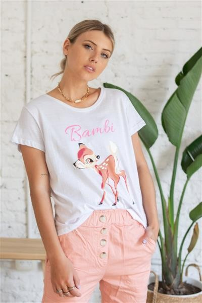 Remera Clasica Bambi Glitter