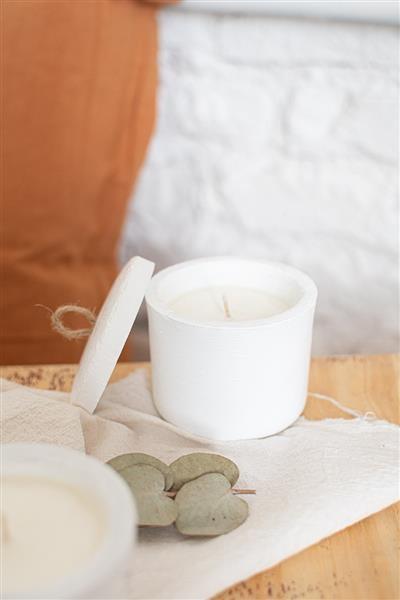 Vela Harria blanca de magnolia y limon